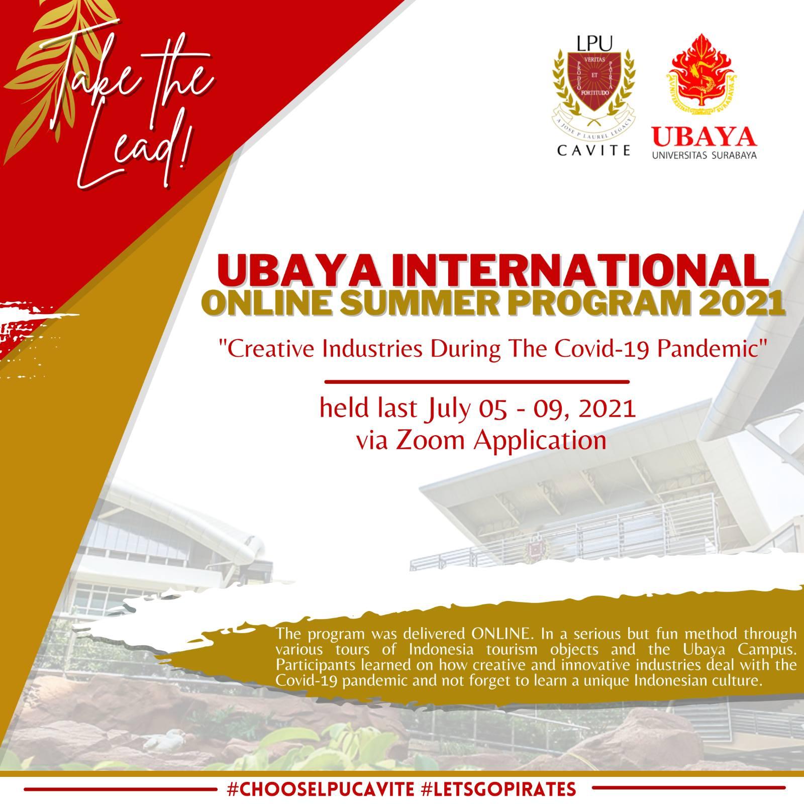CITHM Students Goes to Ubaya through an Online Summer Program