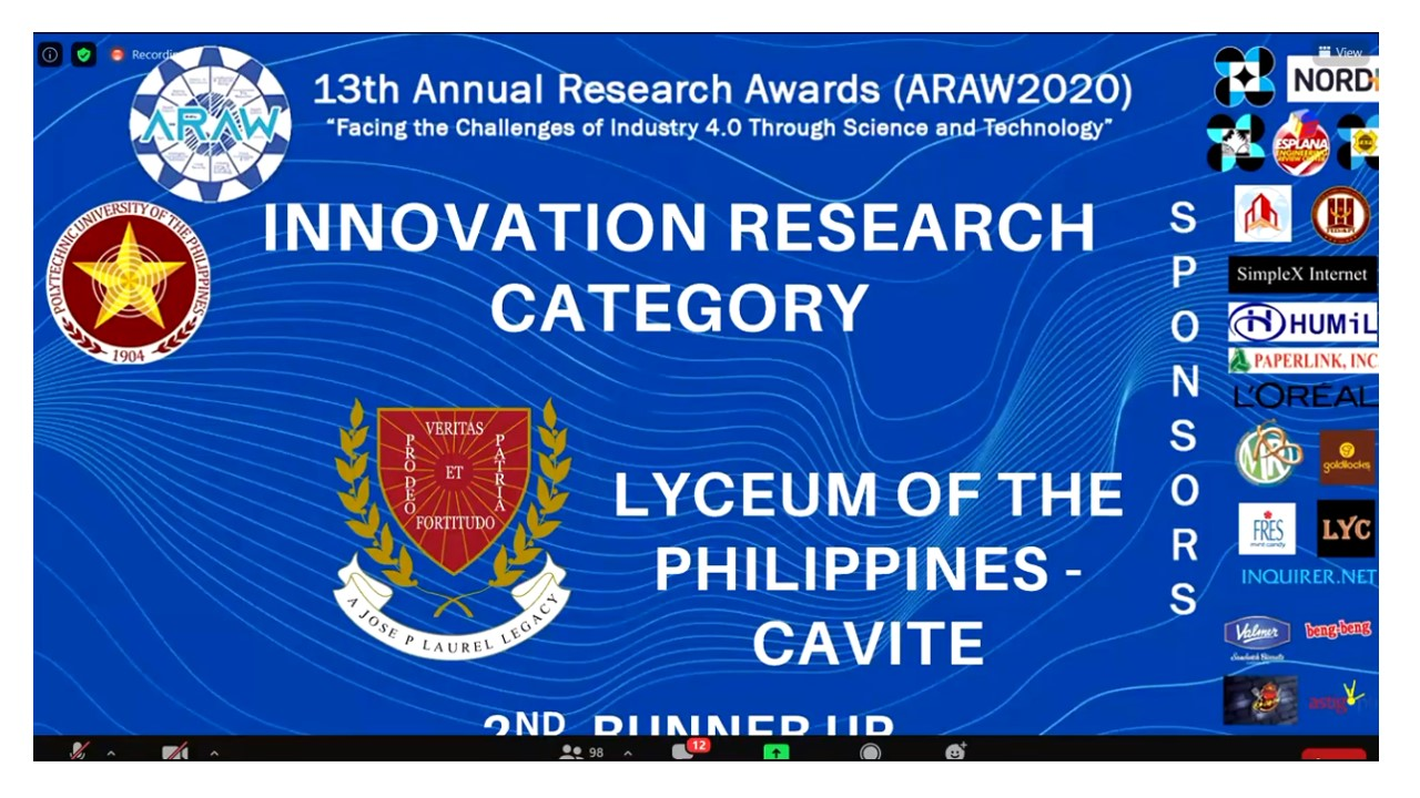 Civil Engineering Students Wins 2nd Runner 13th Annual Research Awards