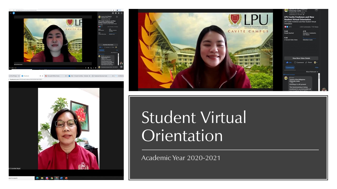 LPU Cavite Orients College Freshmen and New Students of AY 2021-2022